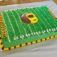 Football Birthday Cake Football field birthday cake