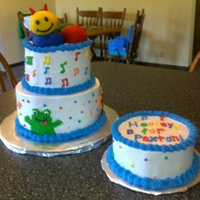 Baby Einstein Cake 2-tier cake with smash cake, all BC