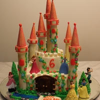 Princess Castle Cake A princess castle for my daughter .. It was a big hit .. ! thank you CC friends for inspiration ..