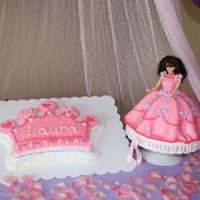 Princess I made these 2 cakes for my daughter's 5th birthday. I used the Wilton crown pan and the Wilton wonder mold. The wonder mold was my...