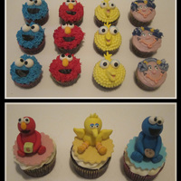 Sesame Street Cupcakes A friend's daughter turned one and her party theme was Sesame Street.