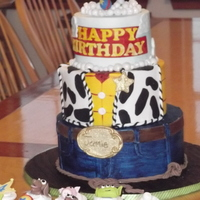 Toy Story Cake  Birthday cake I made for my 4 year old nephew! I had never seen the movie until AFTER I made the cake!! I came up with so many ideas that I...