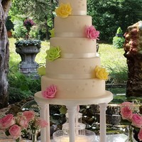 Summer Wedding Cake Something Old And Something New Something Borrowed But Nothing Blue With A Special Twist Instead Of A Cake Topper They... Summer wedding cake, something old and something new something borrowed but nothing blue, with a special twist instead of a cake topper...