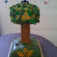 Zelda Wedding Cake No, really this is THE wedding cake, not the grooms cake...fondant, mostly.