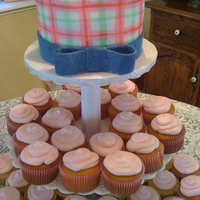 Hand-Painted Plaid For a Jon Deere baby girl shower