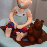 Baby Shower Cake Topper A baby shower cake done for a friend. Used candy clay for the baby
