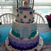 The Little Girls Wanted Teal And Purple For Their Communion Cake The little girls wanted Teal and Purple for their communion cake.