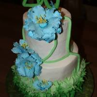 My Homage To Thefondanflingers Blue Poppy Cake my homage to thefondanflinger's blue poppy cake.