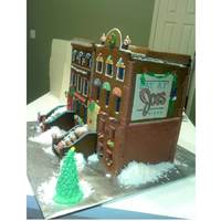 Brownstone Gingerbread House (Front View)