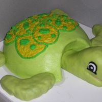 Sea Turtle This is the turtle cake I made to go with the Under the sea theme cake. This cake was meant for the birthday boy to get messy with! I used...