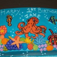 Under The Sea Theme This cake was a lot of work! It was my first time doing the buttercream transfers, which I was pleased with. I used mmf for the coral and...