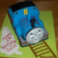 Thomas The Train This is my Thomas the Train cake! I used the kit sold on ebay, which I loved! The face of Thomas actually has a DVD inside!! I used pretzel...