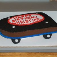 Skateboard Cake This was a simple skateboard cake. I used oreos on the top and rice crispie treats for the wheels. I really wanted to use fondant because I...