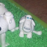 Serta Sheep This is another close up of my Serta sheep cake that I made for Macy's! It's #1/2 showing his dad his new braces!! LOL I love...