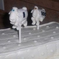Serta Sheep This is a close up of the 2 Serta sheep that were jumping over the mattress! LOL This cake makes me laugh every time!! Soo fun!