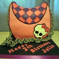 Monster High Purse Cake For my neice - she is into Monster High stuff, and the skull is the logo. It's a vanilla confetti cake under fondant. I decided on a...