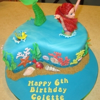 "Ariel Little Mermaid My daughter wanted an Ariel doll cake, and I didn't want to do another ""doll in dress"" cake, so this is what I came up with..."