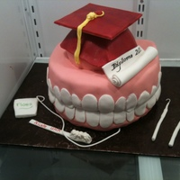 Dental Hygenist Graduation Cake This cake was for the graduation of a dental hygenist.