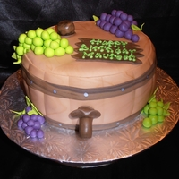 Wine Barrel Cake This cake was for a wine lover, and I didn't want to do the expected wine bottle, so I made a barrel instead - inspired by so many I...