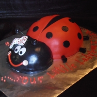 Baby Shower Ladybug MMF covered pyrex bowl cakes!
