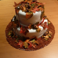 Fall/autumn Cake Cake made to auction off at a charity event
