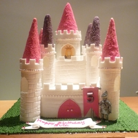 Fairytale Castle Cake Fairytale castle cake made for a friend's daughter.