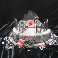Goth Birthday Cake Birthday cake for my daughter during her 'goth' period. Was not allowed to make 'pretty' roses. They had to be '...