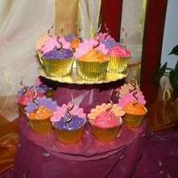 Bollywood Cupcakes Simple but colourful cupcakes made for my daughter's Bollywood party. They fit perfectly with the decor!