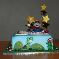 Super Mario Birthday Cake Not a huge fan of Super Mario but my friend's boy is!