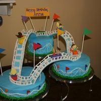 Roller Coaster A roller coaster cake for my niece's birthday. The track and cars are made out of gum paste