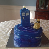 Dr Who Birthday Cake Tardis And Dalek Are Made Out Rice Crispy Treats And Gum Paste Dr. Who birthday cake. TARDIS and Dalek are made out rice crispy treats and gum paste.