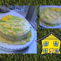 Welcome Home Yellow cake, lemon curd filling, and lemon frosting..pretty tasty!