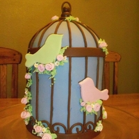 Birdcage Cake   I think I saw this as a Sunday Sweet on Cakewrecks, I thought it was beautiful and copied it for a good friends bridal shower