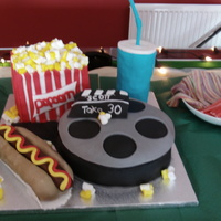 Cinema Cake for my hubby's 30th! he's movie mad