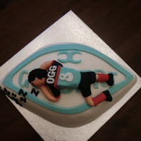Rugby Club Cake for a rugby boy who will fall asleep anywhere!