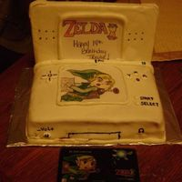 My Brothers Ds Cake This was a little hard for me because I had chocolate icing under the white fondant and it kept showing in places but he was very happy...