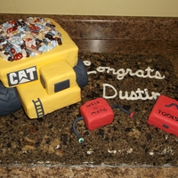 Dump Truck Dump truck is rick krispie treats. Buttercream coverd cake. Then took another cake and crubmle it with chocolate cookie wafers for the &...