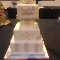 Nec 2011 Wedding Cake I entered. I was awarded Silver.