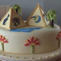 Egyptian Theme College piece. Had to include quilling tube embroidery and edible ribbon insertion.