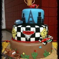 Cars 2 All fondant with toy decorations