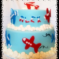 Air Planes All Fondant with buttercream clouds