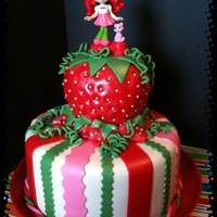 Strawberry Short Cake all fondant with toy decoration