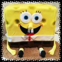 Bob Esponja Sponge Bob's Mexican cousin. LolAll fondant with graham cracker sand.