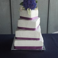 Offset Square Wedding Cake Offset square cake with BC frosting