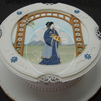 Royal Iced Cake With Oriental Stringwork I made this cake with Eddie Spence MBE.