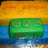 Lego Cake marble cake...yellow lego is BC and the green, blue, red is Rolled Buttercream