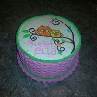 Owl Baby Shower Cake Made With Buttercream Owl baby shower cake made with buttercream