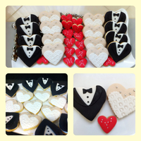 Bride And Groom Cookies BRIDE AND GROOM COOKIES :)