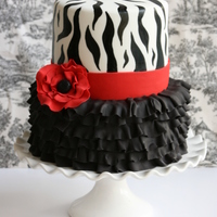 I Made This For A Friends 40 Th Birthday The Ruffles Were Done Using The Cel Stick And I Hand Painted The Zebra Stripe Using Straight Black... I made this for a friends 40 th Birthday. The ruffles were done using the Cel Stick and I hand painted the Zebra stripe using straight...