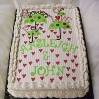 Showers Of Love Bridal Shower Cake